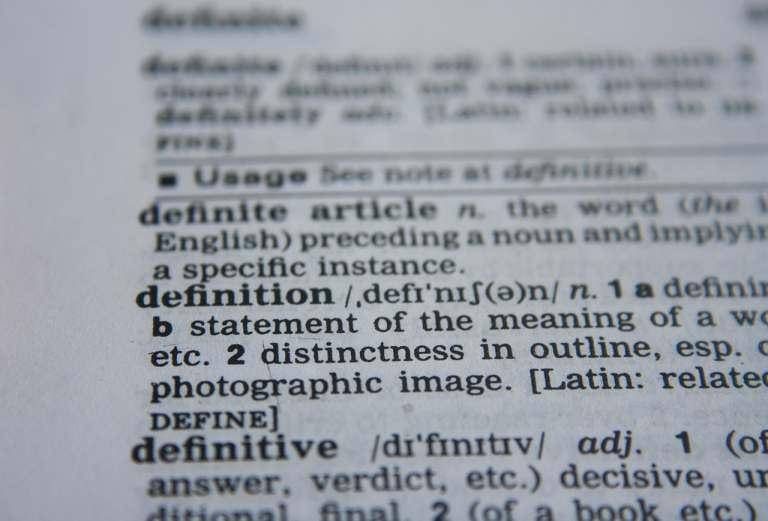 La définition du mot